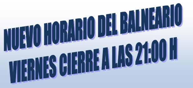 HORARIO BALNEARIO