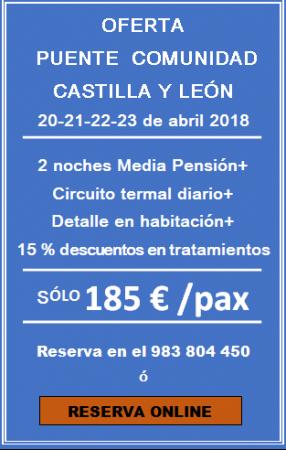 PUENTE COMUNIDAD CASTILLA Y LEON 2 DIAS